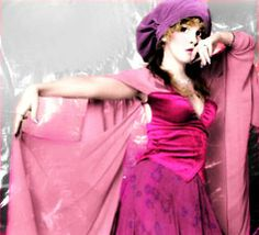 a beautiful hand-tinted photo edit of Stevie in shades of pink from a photo taken by her friend Herbert W. Worthington 111 ☆♥❤♥☆
