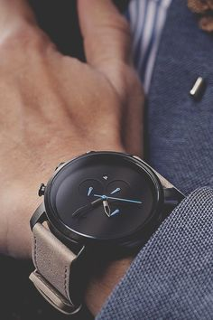 modernambition:  Chrono Gun Metal/ Sandstone Leather | BUY HEREUse Code: ModernAmbition for $10 off