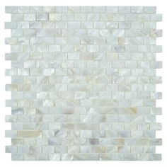Create a chic backsplash or stylish accent wall with this lovely mosaic tile, the perfect finishing touch for your kitchen or master bath.  ...
