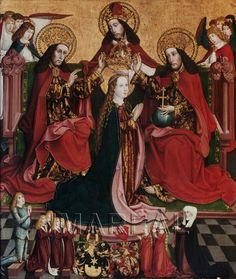 Krönung Mariens; Stifter 1493-1493; Rosenburg; Österreich; Niederösterreich; Burg Kapelle  http://tarvos.imareal.oeaw.ac.at/server/images/7011692.JPG