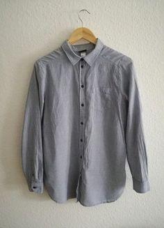 Kleidung & Accessoires Lanvin Vintage Blau Gestreifte Baumwolle Knopfverschluss Hemd Top Bluse