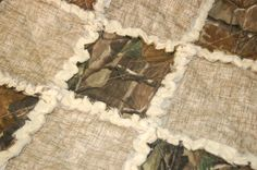 Realtree Baby Rag Security Quilt Cotton Flannel Brown $15.00 #realtreecamo #camoquilt