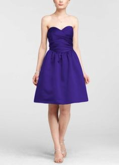 Sweetheart Ruched Bridesmaid Dress with Full Skirt