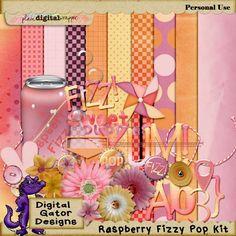 Raspberry Fizzy Pop Kit by Digital Gator Designs @Plaindigitalwrapper.com