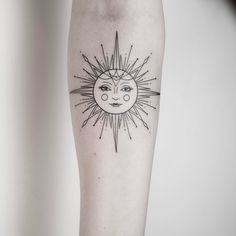 Geometric Sun Tattoo On Arm