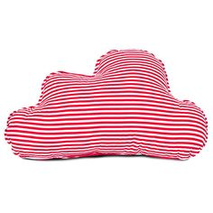 Red Stripes Cloud Pillow (93 HRK) ❤ liked on Polyvore featuring home, home decor, throw pillows, almofada, decorative pillows, home & living, home décor, light pink, red throw pillows and red accent pillows