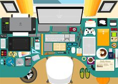 Flat Scene Creator by SCworkspace on Scene Creator, The Creator, Office Cartoon, Image Hero, Iphone Wallpaper App, Isometric Design, Graphic Projects, Best Stocks, Digital Illustration