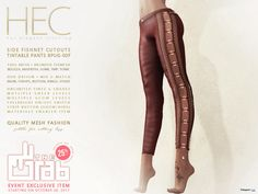 Side FishNet Cutout Tintable Pants Group Discount Promo by HEC