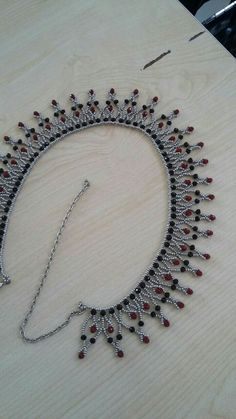 Best 11 Beautiful beaded necklaces – Page 561753753517050882 – SkillOfKing. Beaded Necklace Patterns, Beaded Jewelry Designs, Lace Necklace, Bead Jewellery, Seed Bead Jewelry, Beaded Bracelets, Necklace Designs, Jewelry Necklaces, Handmade Beads
