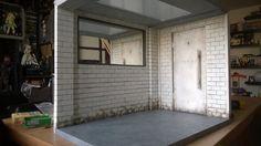 I like the dirt and the door... this door could serve as an interrogation room door or a holding room door.