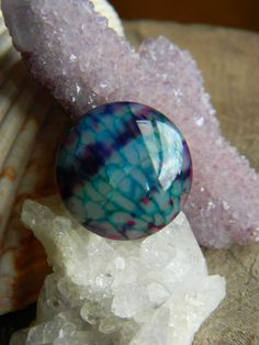 Gorgeous Dragon Vein Agate Cabochon by MsCLeasBeadEmporium on Etsy, $5.25