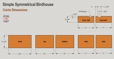 10 FREE Birdhouse Plans Built for $3 - Simple No Drilling Designs Best Bird Feeders, Wooden Bird Feeders, Wooden Bird Houses, Bird House Feeder, Bird Houses Diy, Woodworking Jig Plans, Woodworking Shows, Woodworking Techniques, Homemade Bird Houses