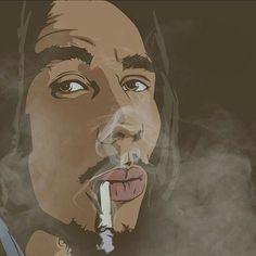 Another side to Bob Marley. Jamaica Music, Reggae Bob Marley, Reggae Artists, Robert Nesta, Nesta Marley, Caribbean Culture, Weed Art, Great King, Hip Hop Art