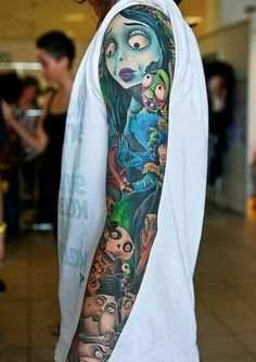 The corpse bride sleeve tattoo