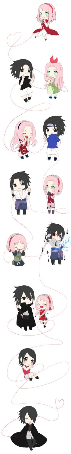 Not a Sasku+Sakura fan, but this art is so cute!