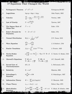 Some equations
