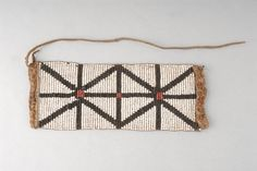 Xhosa beaded anklet worn by men on ceremonial occasions. Late 1800's-early 1900's. British museum colection.