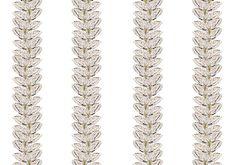 White Moth Stripe Wallpaper by Timorous Beasties