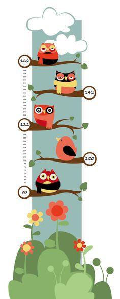 El Jardín de Kipuruki: VA DE BÚHOS! MEDIDOR DE NIÑOS Felt Crafts, Diy And Crafts, Baby Presents, Baby Accessories, Vintage Cards, Kids And Parenting, Wall Stickers, Ideas Para, Kids Toys
