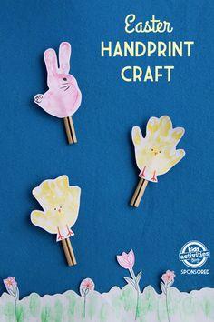 Easter handprint craft easter crafts for kids, easter art, easter activitie Easter Art, Easter Crafts For Kids, Toddler Crafts, Children Crafts, Craft Kids, Toddler Stuff, Toddler Fun, Kid Stuff, Easter Activities