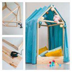 DIY: Making a bedhouse . Diy Tipi, Toddler Rooms, Toddler Bed, Girl Room, Baby Room, Diy Kids Furniture, Teepee Kids, Diy For Girls, Nursery Themes