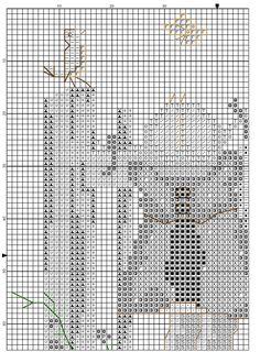 """Birdwatching"" Hummel cross stitch pattern, part 1"