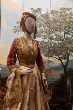 5 Must-Visit Museums in Athens - Aspects Of Style Greek traditional dress in Benaki museum in Athens Greek Traditional Dress, Traditional Fashion, Traditional Outfits, Greece Dress, Ancient Greek Clothing, Empire Ottoman, Black Bridesmaid Dresses, Everyday Dresses, Folk Costume
