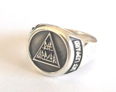 Def Leppard Ring Sterling Silver 925 by vikigreen on Etsy, $59.99