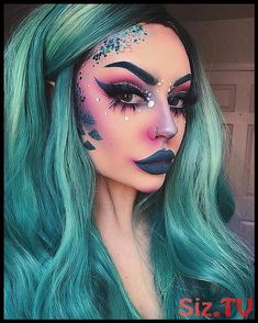 45 Spooky Halloween Makeup Ideas To Try This Year 45 gruselige Halloween-Make-up-Ideen für die Halloween Makeup Witch, Witch Makeup, Fairy Makeup, Halloween Looks, Sfx Makeup, Costume Makeup, Spooky Halloween, Makeup Art, Makeup Ideas