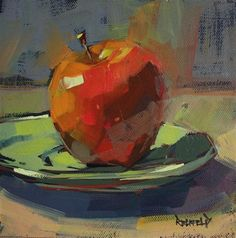 "Daily Paintworks – ""Luscious Apple"" – Original Fine Art for Sale – © Cathleen Rehfeld Daily Paintworks – ""Luscious Apple"" – Original Fine Art for Sale – © Cathleen Rehfeld Apple Painting, Fruit Painting, Painting & Drawing, Value Painting, Painting Still Life, Still Life Art, Paintings I Love, Fruit Art, Art Graphique"