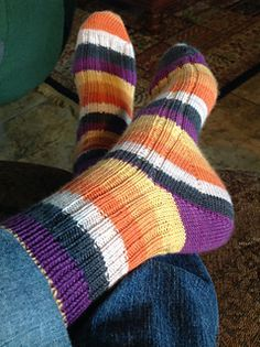 toe up sock pattern