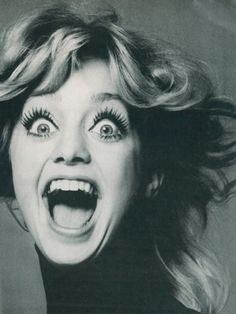Goldie Hawn in 1975.  Her makeup is amazing.