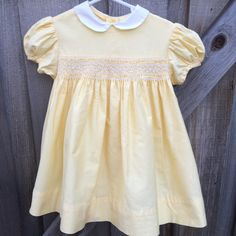60s Smocked Dress Toddlers 2/3 by lishyloo on Etsy