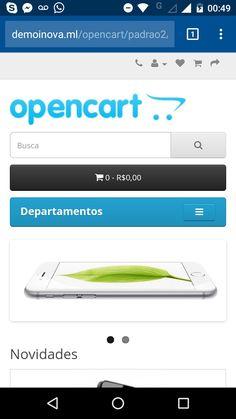 Opencart 2 Barra de endereço colorida - Android