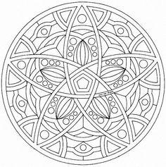 Star Mandala - free coloring page