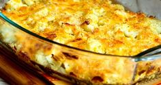 Cauliflower Gratin with Sharp Cheddar and Parmesan can be a nice low-carb and gluten-free stand-in for Mac-n-Cheese and this cheesy caulifl...