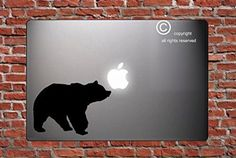 Bear - STICKER - DECAL - SKIN - FOR LAPTOP MACBOOK CAR WINDOW WALL ART Dأ‰COR TRUCK MOTORCYCLE HELMET NOTE BOOK