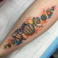40 Facinating Solar System Tattoo Designs - Their Main Origin And Symbolism