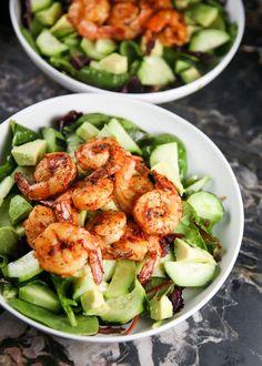 Green Goddess Chili Shrimp Salad - For The Love of Basil
