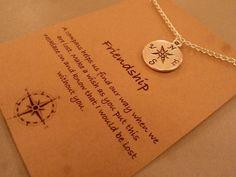 Kompass Charm Halskette: Silberton von CraftsbyBrittany auf Etsy