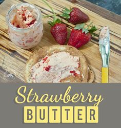 What to do with a lot of strawberries. Make strawberry butter of course! It's quick and easy!  — Clumsy Crafter New Recipes, Snack Recipes, Cooking Recipes, Favorite Recipes, Quick Easy Healthy Meals, Healthy Snacks, Strawberry Recipes Canning, Strawberry Butter, Deserts
