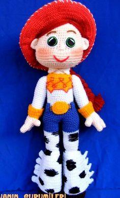Jessie Toy Story, Crochet Disney, Amigurumi Animals, Amigurumi Toys, Crochet Dolls Free Patterns, Crochet Toys, Harry Potter Crochet, Toy Story Crafts, Amigurumi For Beginners