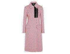 Rethink Pink - Miu Miu polka-dot jacquard coat1