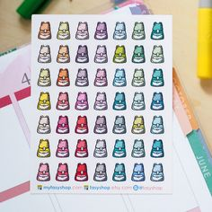 School Bags | Bagpacks Mini Icons -  Colourful Hand Drawn Sticker Planner by FasyShop on Etsy