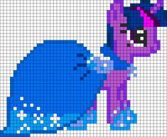 MLP Gala Twilight Sparkle perler bead pattern