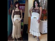 Falda Verano Crochet - YouTube
