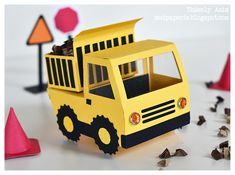 Dump Truck. Click on link for tutorial and where to buy template from. http://modpaperie.blogspot.ca/2012_04_01_archive.html