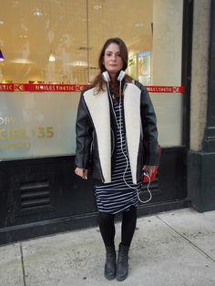 Streetstyle in New York • modern stripes • Photo: Alina Spiegel