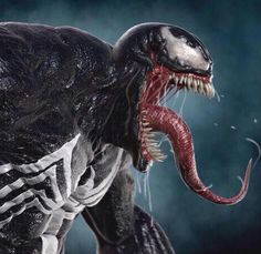 Spider-Man may have his cemented place in the Marvel Universe, as well as his place at Sony Studios over the past 10 years, but it'll be Venom taking on an on-screen adventure of his own in the next Spider-venture. Marvel Venom, Marvel Art, Venom Spiderman, Venom Art, Venom Movie, Arte Horror, Spider Verse, Silver Surfer, Marvel Characters