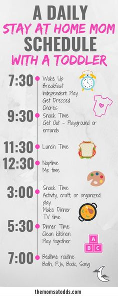 A daily stay at home mom schedule with a toddler! Here is an example for my sahm schedule with my toddler! Staying on our routine makes us both happier and more productive! Continue reading for tips on starting your own schedule! - Life and hacks Daily Schedule For Moms, Daily Routine Schedule, Toddler Schedule, Schedule For Toddlers, Daily Routine Kids, Schedule Board, Toddler Daily Routines, Schedules For Kids, Toddler Routine Chart